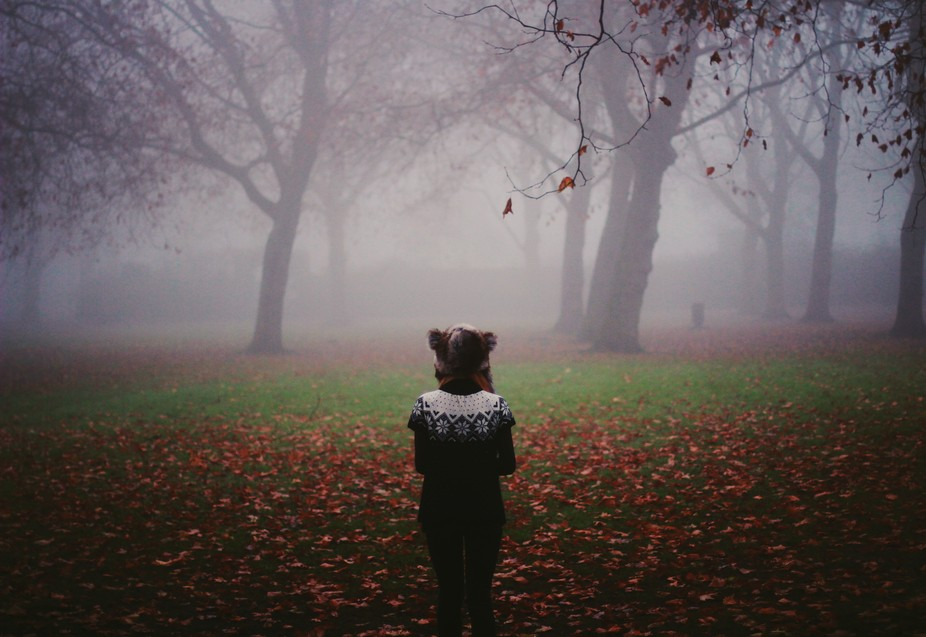 Self portrait on a foggy day