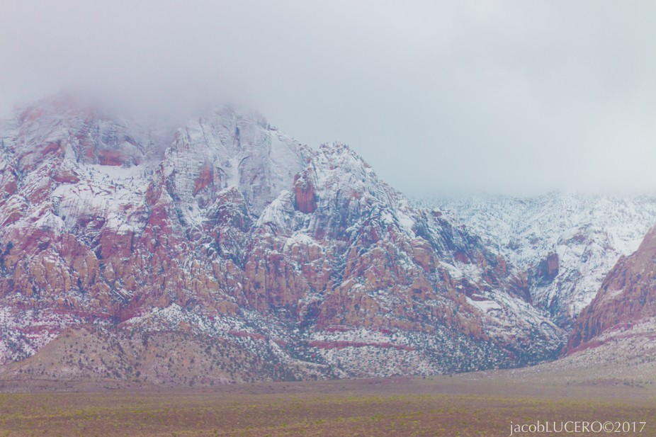 Fresh snow downfall at Red Rock.