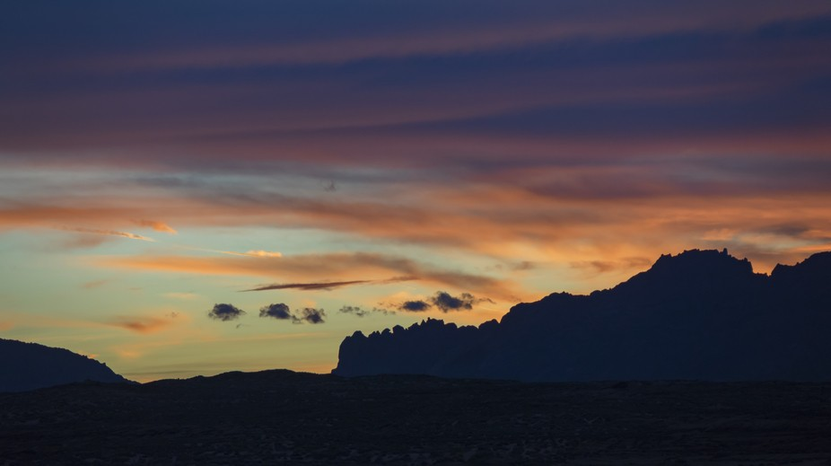 at post sunset the sky and landscape divide the imagery into nice thirds or three layers