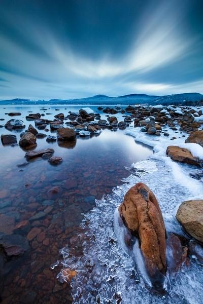 Icy Tahoe Shoreline