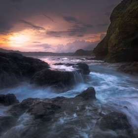 Exploring the south coast of Lombok, the coast around here is very rugged. I would compare it to a tropical Cornwall. This particular evening I w...