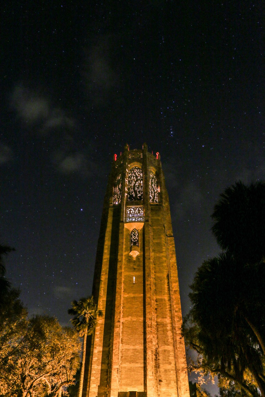 Bok Tower at night