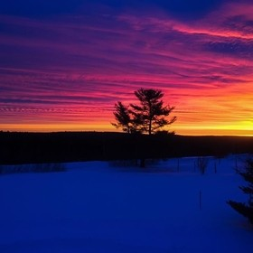 Woke up to this sunrise in Scott Ridge, New Brunswick
