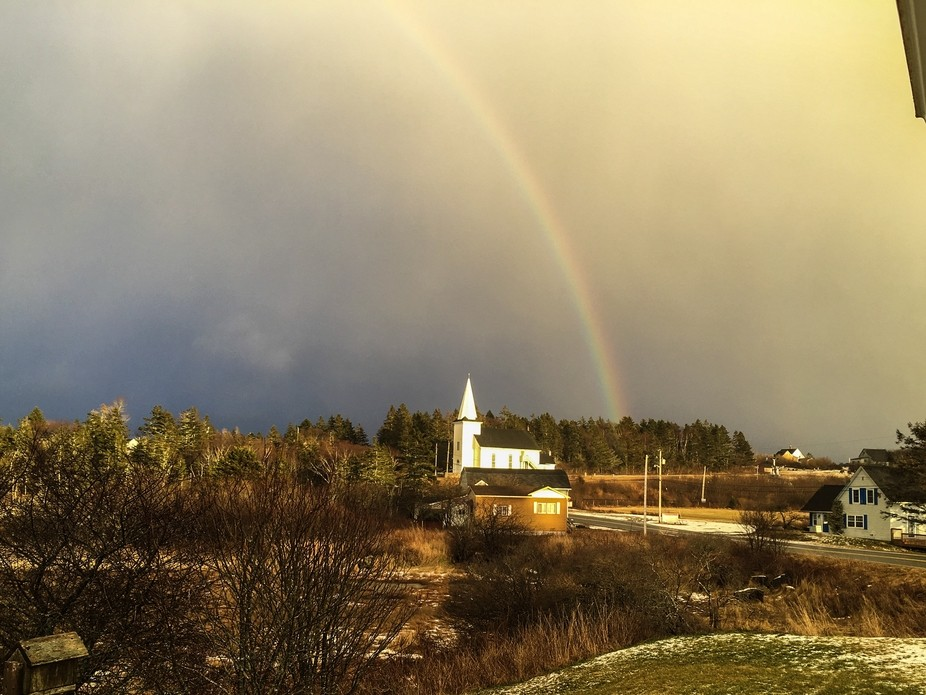 The Rainbow before the Blizzard
