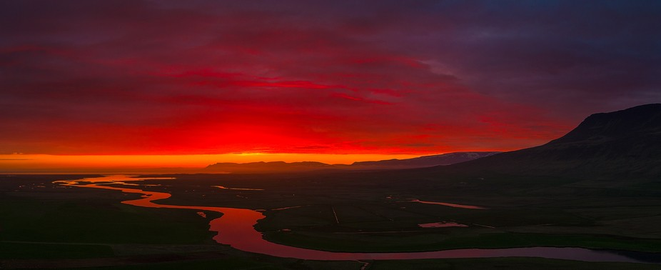This blood-red sunrise had me pulling my vehicle off the road in a hurry in order to get my drone...