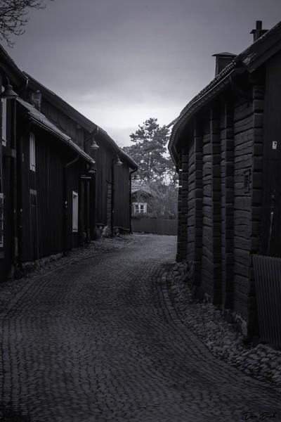 Old street in Vasteras Sweden
