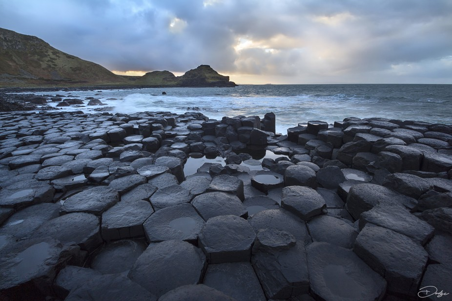 A beautiful afternoon on the Giant's Causeway in Northern Ireland.  Taken in January 201...