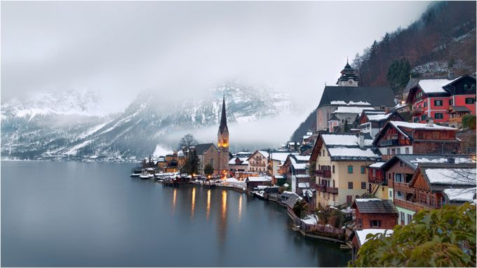 Hallstatt, Austria by marcusburtenshaw - Towns In The Winter Photo Contest