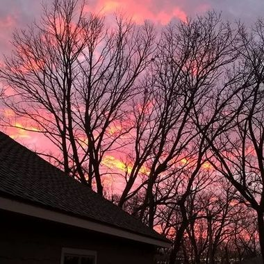 Sunset in Minnesota on a February night