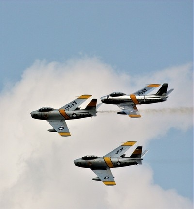 F-86 Sabre in Formation
