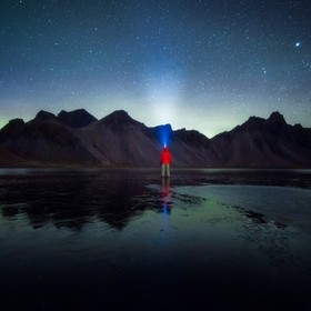 I was alone, in the middle of nowhere, in front of icelandic icon of Vestrahorn, in the night, with icy polar cold. I had a moment of eternity wi...
