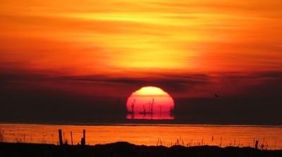 Sunrise seen from Denmark.