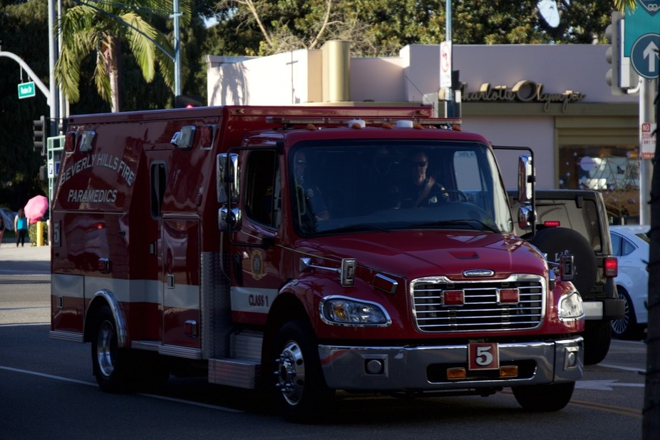 Beverly Hills Fire Department Paramedic Truck