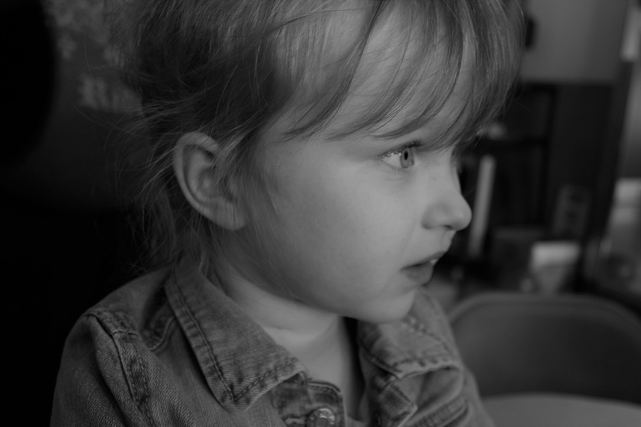 An image of my daughter deep in thought!