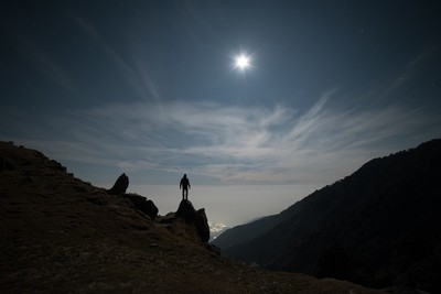 Man and the moon