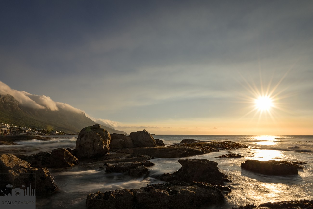 In Cape Town are stunning landscapes-Sunset in Capetown-Camps Bay with the twelve apostles-long exposure-I  must done  this