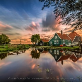 Zaanse Schans is a neighbourhood of Zaandam, near Zaandijk in the Netherlands. It has a collection of well-preserved historic windmills and house...