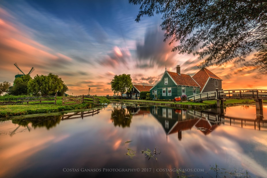 Zaanse Schans is a neighbourhood of Zaandam, near Zaandijk in the Netherlands. It has a collectio...