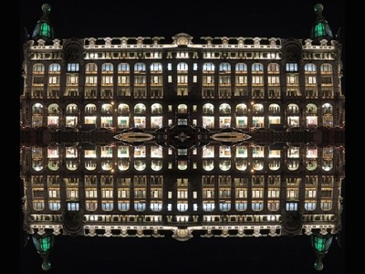 Matrix of Singer House. St. Petersburg. Series - Reflection.