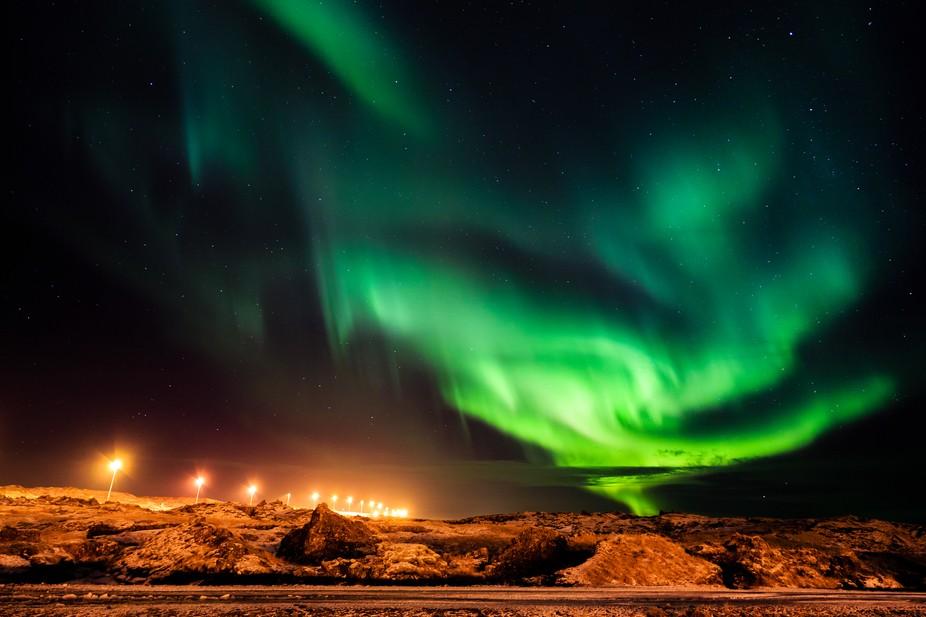 Aurora Borealis - Hafnarfjordur, Iceland