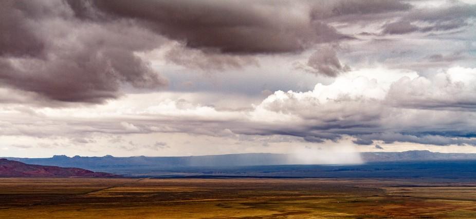 Pouring Rain across high desert in the foothills