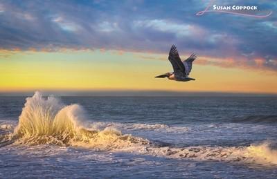 Golden Wave at Sunrise
