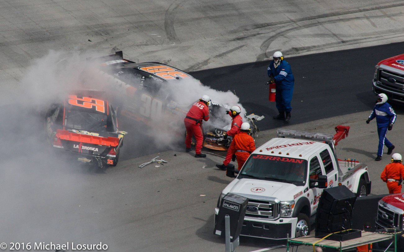 Bad crash at a Nascar race