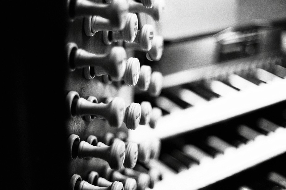 Some of the stops in at the organ console at Chester Cathedral Taken using Ilford HP5 400 35mm film