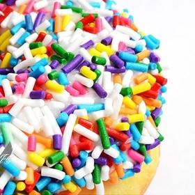 Colorful sprinkle donut