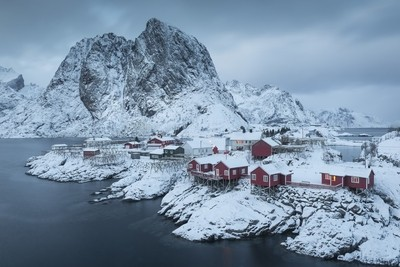 Blue hour at Hamnoy, Lofoten, Islands