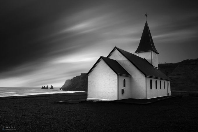 Vik Church by petergreig - Black And White Architecture Photo Contest