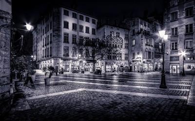 Vieux Lyon in B-W