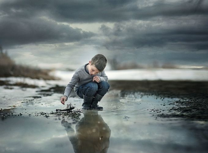 Reflection by Lindsey_Shedd - Kids And Water Photo Contest