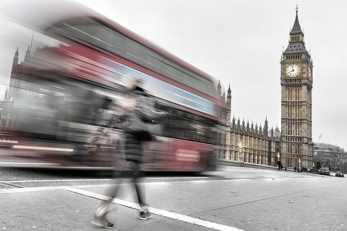 London Bus by Stephen-Blake-Photography - Blurred Subjects Photo Contest