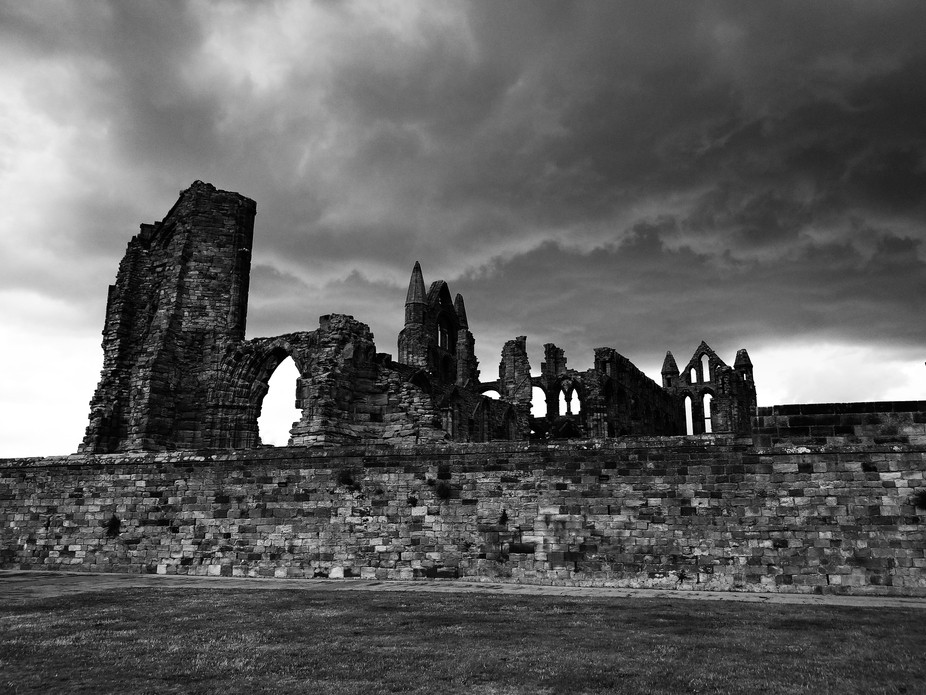 This is Whitby Abbey, Yorkshire. It was a typical British summer day! Beautiful sunshine and torr...