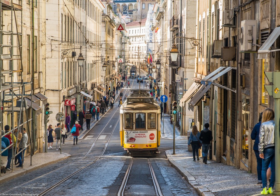 Lisbon has an amazing set of trams that creep through this city.  The architecture and landscape ...