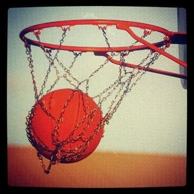 This is just a shot of a shot. My daughter was shooting baskets and I snapped a picture.