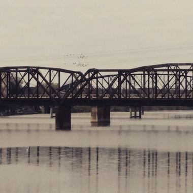 One of the old railroad bridges in Waco, TX