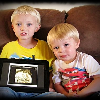 Boys Announcement of Their Baby Brother