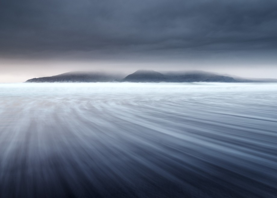 Sweeping Tide Eigg by Steven M Hunter