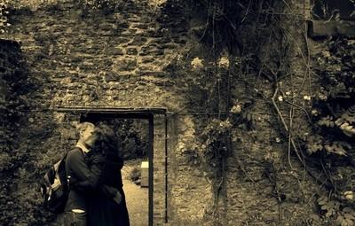 Love in progress at Malahide Castle in Dublin, Ireland.