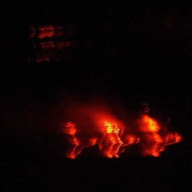 Lava flowing into the ocean on the Big Island of Hawaii.