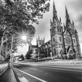 St mary's cathedral Sydney, Australia. Before Sunrise