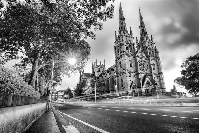 St mary's cathedral Sydney by PetarBphotography - Long Exposure Experiments Photo Contest