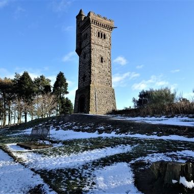 Balmashanner War Memorial built 1920 on top of hill great views over Forfar and the Valley of Strathmore