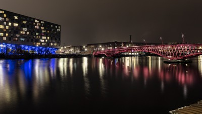 Python Bridge at Night