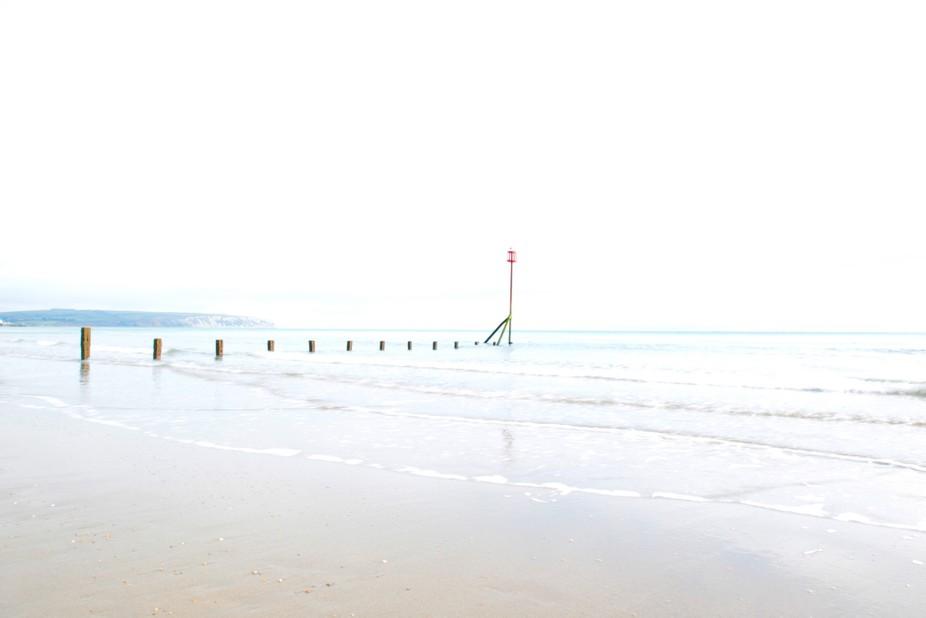 A cold walk along the shore at Sandown, Isle of White