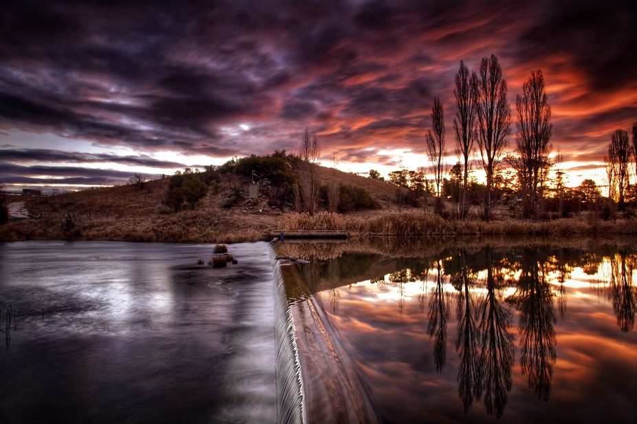 Was treated to a spectacular reflected sunset over this river, one I'll remember for a l...