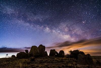 Milky Way over City of Rocks