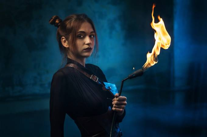Fire girl by Sapsan - The Magic Of Editing Photo Contest